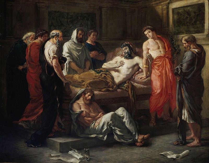 מילותיו האחרונות של מרקוס אורליוס (אז'ן דלקרואה)